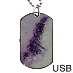 The Power Of Purple Dog Tag Usb Flash (one Side)