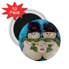 Snowman Family 2 25  Magnets (10 Pack)