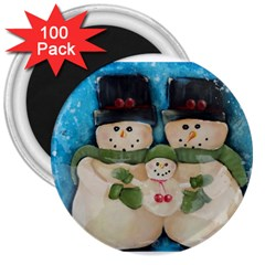 Snowman Family 3  Magnets (100 Pack)