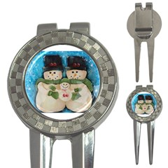 Snowman Family 3 In 1 Golf Divots