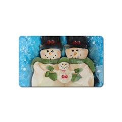 Snowman Family Magnet (name Card)