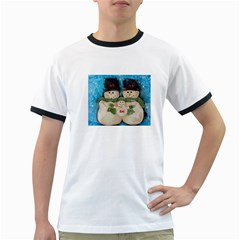 Snowman Family Ringer T-Shirts