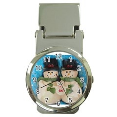 Snowman Family Money Clip Watches