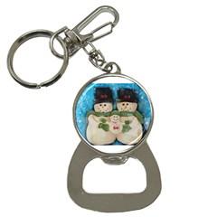 Snowman Family Bottle Opener Key Chains