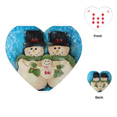 Snowman Family Playing Cards (Heart)