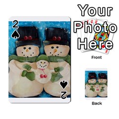 Snowman Family Playing Cards 54 Designs