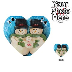 Snowman Family Playing Cards 54 (Heart)