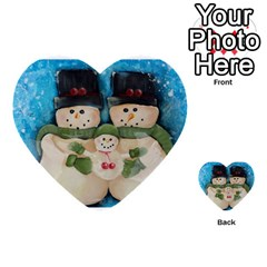Snowman Family Multi-purpose Cards (Heart)