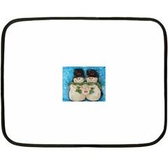 Snowman Family Fleece Blanket (Mini)
