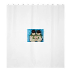 Snowman Family Shower Curtain 66  x 72  (Large)
