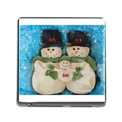 Snowman Family Memory Card Reader (square)