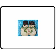Snowman Family Fleece Blanket (Medium)