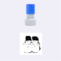 Snowman Family Rubber Round Stamps (small)