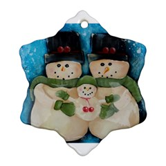 Snowman Family Ornament (snowflake)