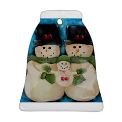 Snowman Family Ornament (Bell)