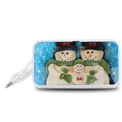 Snowman Family Portable Speaker (white)