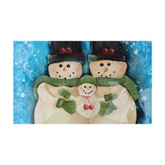 Snowman Family YOU ARE INVITED 3D Greeting Card (8x4)