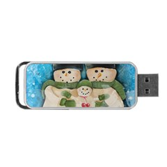 Snowman Family Portable USB Flash (One Side)