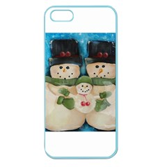 Snowman Family Apple Seamless Iphone 5 Case (color)