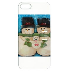 Snowman Family Apple Iphone 5 Hardshell Case With Stand