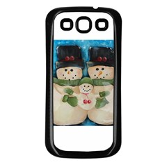 Snowman Family Samsung Galaxy S3 Back Case (black)