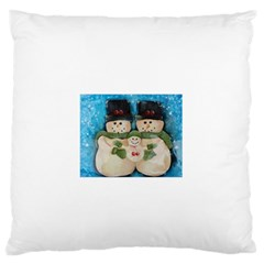 Snowman Family Standard Flano Cushion Cases (Two Sides)