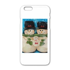 Snowman Family Apple iPhone 6 White Enamel Case