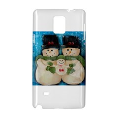 Snowman Family Samsung Galaxy Note 4 Hardshell Case
