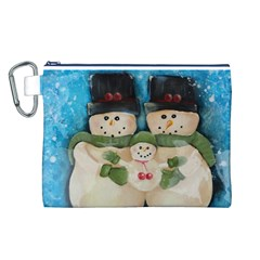 Snowman Family Canvas Cosmetic Bag (L)