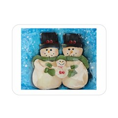 Snowman Family Double Sided Flano Blanket (mini)