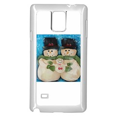 Snowman Family Samsung Galaxy Note 4 Case (White)