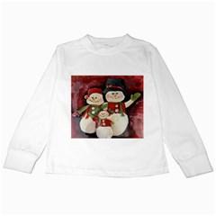 Snowman Family No. 2 Kids Long Sleeve T-Shirts