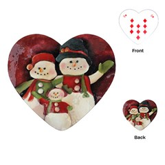 Snowman Family No. 2 Playing Cards (Heart)