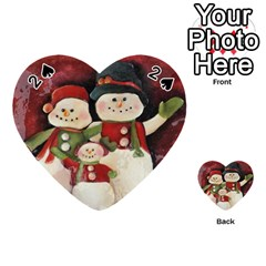 Snowman Family No. 2 Playing Cards 54 (Heart)