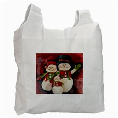 Snowman Family No  2 Recycle Bag (two Side)