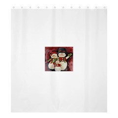 Snowman Family No. 2 Shower Curtain 66  x 72  (Large)