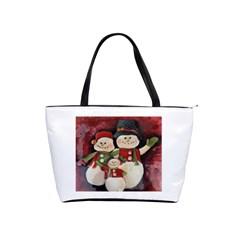 Snowman Family No  2 Shoulder Handbags