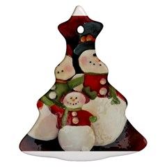 Snowman Family No. 2 Christmas Tree Ornament (2 Sides)