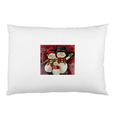 Snowman Family No. 2 Pillow Cases (Two Sides)