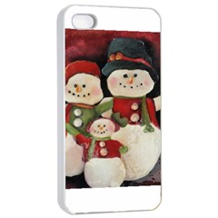 Snowman Family No  2 Apple Iphone 4/4s Seamless Case (white)