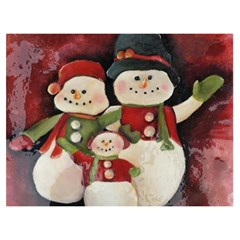 Snowman Family No  2 Birthday Cake 3d Greeting Card (7x5)