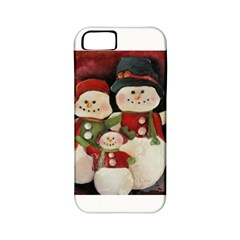 Snowman Family No  2 Apple Iphone 5 Classic Hardshell Case (pc+silicone)