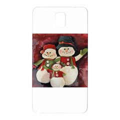 Snowman Family No  2 Samsung Galaxy Note 3 N9005 Hardshell Back Case