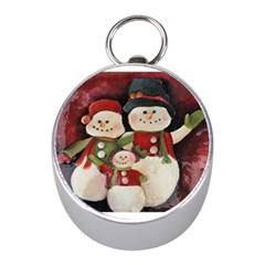Snowman Family No  2 Mini Silver Compasses