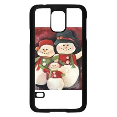 Snowman Family No. 2 Samsung Galaxy S5 Case (Black)