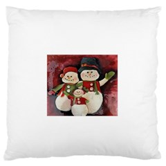 Snowman Family No. 2 Large Flano Cushion Cases (Two Sides)