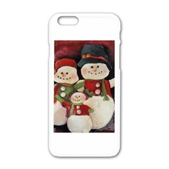 Snowman Family No. 2 Apple iPhone 6 White Enamel Case