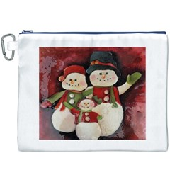 Snowman Family No. 2 Canvas Cosmetic Bag (XXXL)