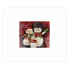 Snowman Family No. 2 Double Sided Flano Blanket (Small)