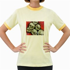 Halloween Skulls No.1 Women s Fitted Ringer T-Shirts